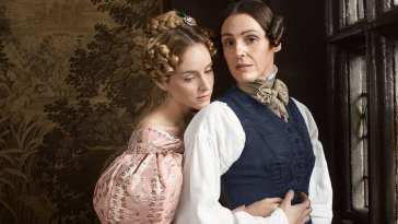 Suranne Jones and Sophie Rundle in a promotional photo for Gentleman Jack