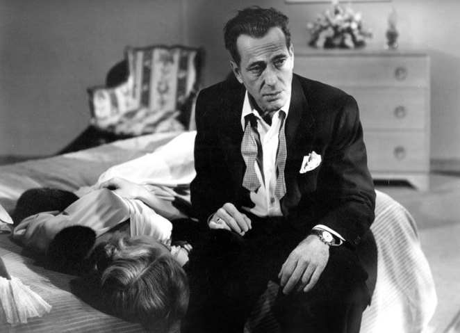 Dix Steele (Humphrey Bogart) looks for vindication from something or someone In A Lonely Place