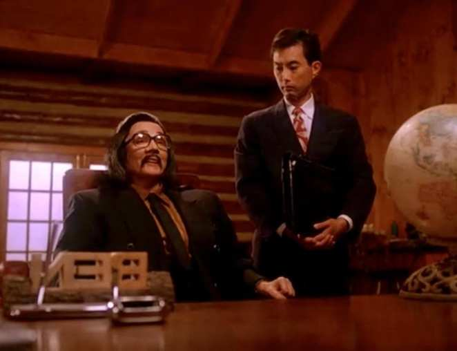 Piper Laurie as Japanese businessman Mr Tojamura in Twin Peaks