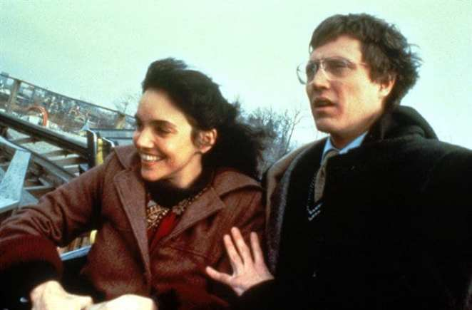 Johnny Smith (Christopher Walken) has a bad feeling on a rollercoaster with the love of his life, Sarah (Brooke Adams).