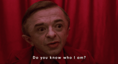 The Arm asks Dale if he knows who he is in Twin Peaks