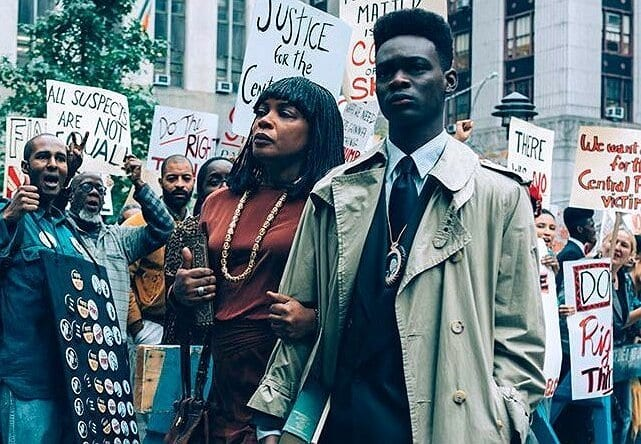 People protest in Netflix's When They See Us