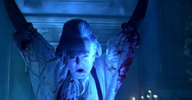 Scary black magic sorcerer does scary black magic sorcerer things in Hellraiser: Bloodline