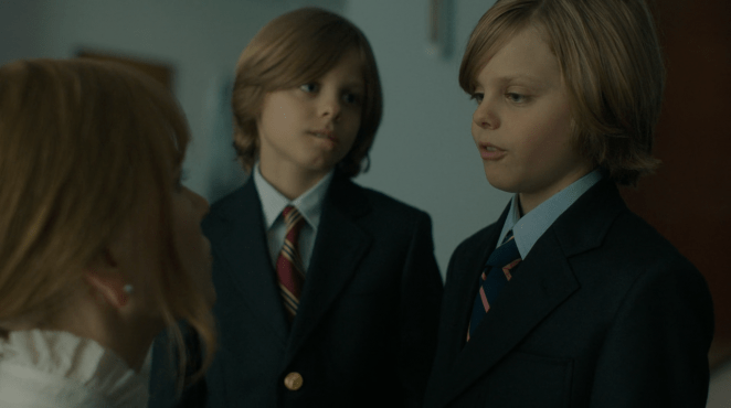 Nicole Kidman as Celeste with Max and Josh in HBO's Big Little Lies finale