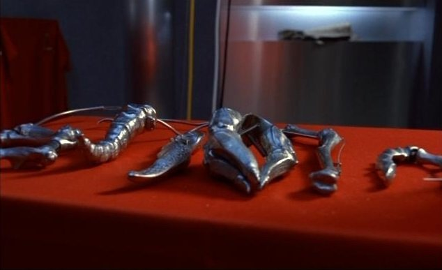 Gynecological metallic instruments created by Beverly Mantle