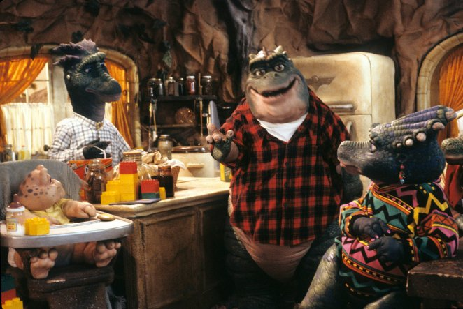 The Sinclair family of ABC's Dinosaurs rallied around the father, Earl.