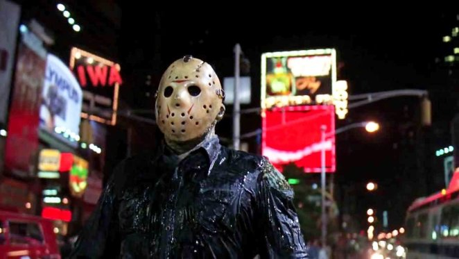 """Friday the 13th Part VIII: Jason Takes Manhattan is a real """"slasher out of water"""" story."""