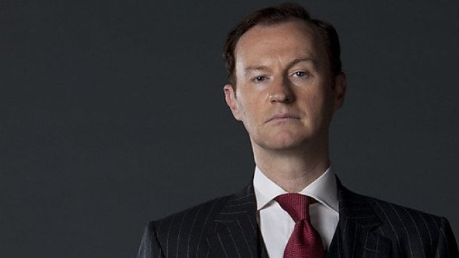 Mark Gatiss as Mycroft Holmes in Sherlock
