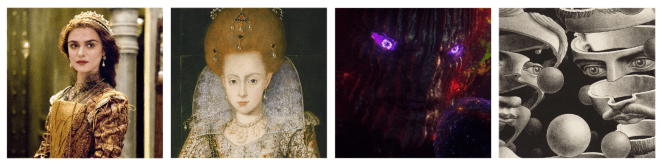 Queen Isabella, Elizabethan Portrait, Dormammu and M.C. Escher artwork