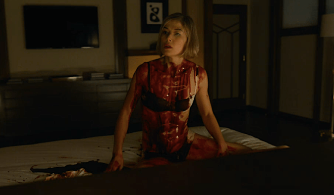 Amy covered in blood after murdering Desi
