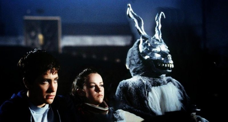 Donnie Darko, Gretchen and Frank the bunny watch The Evil Dead in the cinema