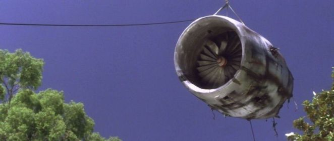 The plane engine is the artifact in Donnie Darko