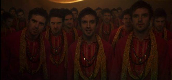 """Multiple versions of David say """"I am Legion"""""""