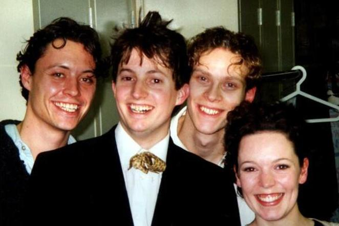 David Mitchell and Robert Webb with Olivia Colman in their early days of working together
