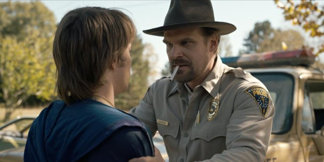 With a cigarette in his mouth, Hopper talks to Jonathan