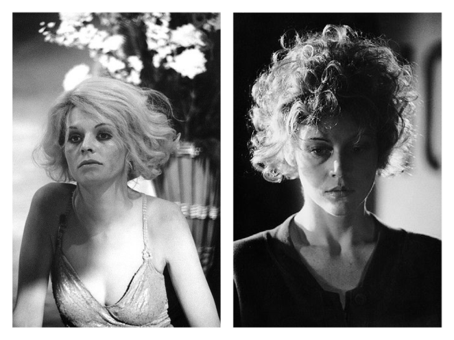 Alice and Gloria stare out pensively in two stills from They Shoot Horses, Don't They?