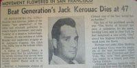 Jack Kerouac Obituary, 1969