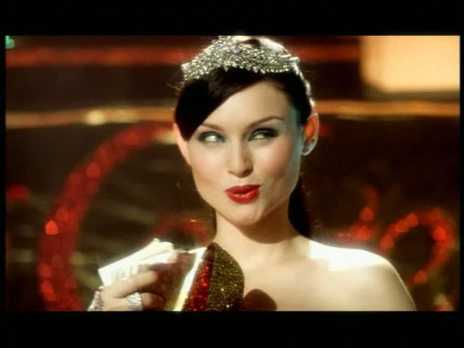 Sophie Ellis-Bextor gloats over her trophy in Murder on the Dancefloor