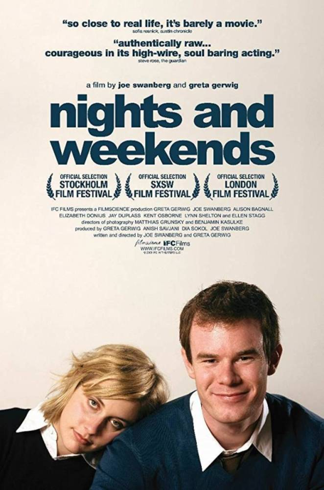 Gerwig and Swanberg in Nights and Weekend's poster