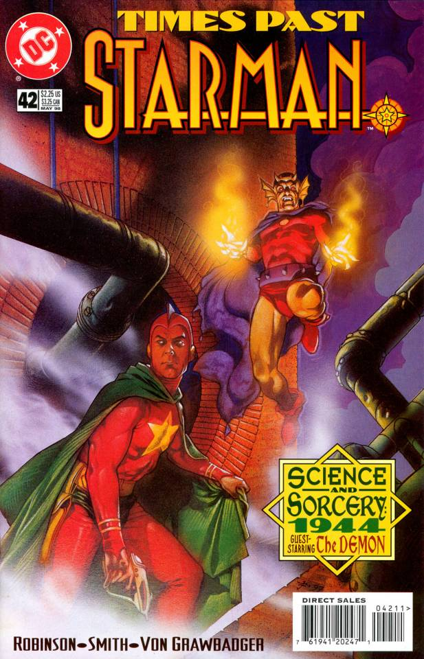 Starman 42 cover by Tony Harris has Ted Knight Starman and Etrigan the Demon teaming up in what the text says is 1944.