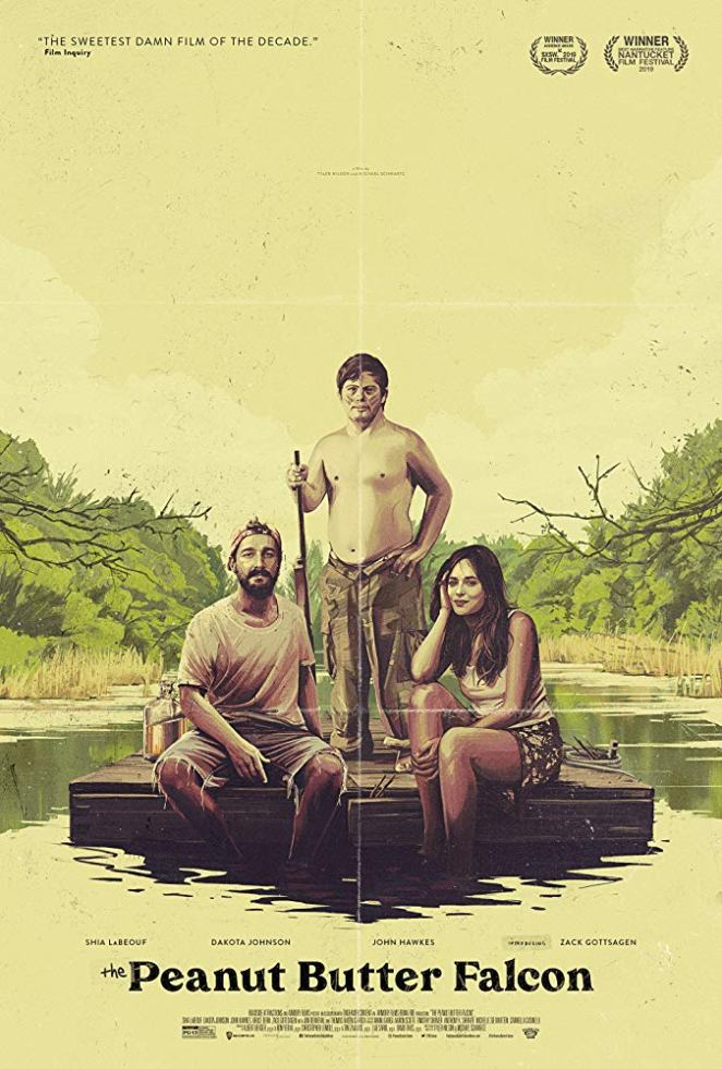 "The vintage-style official poster for ""The Peanut Butter Falcon"""