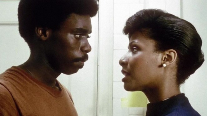 Pierce (Everett Silas) and Sonia (Gaye Shannon-Burnett) facing each other in a moment of conflict