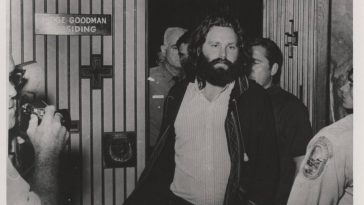 Jim Morrison after his arrest
