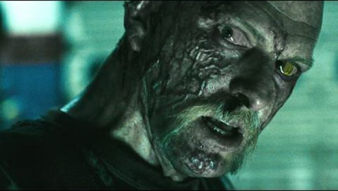 Jesse (Brett Wagner) turns his head as he is clearly infected in The Crazies (2010)