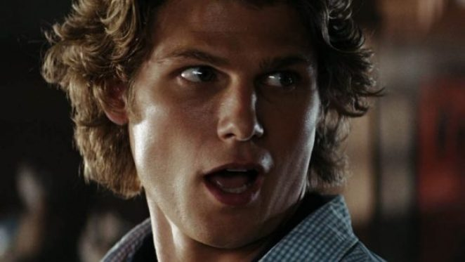 A close-up shot of Travis van Winkle in Friday the 13th