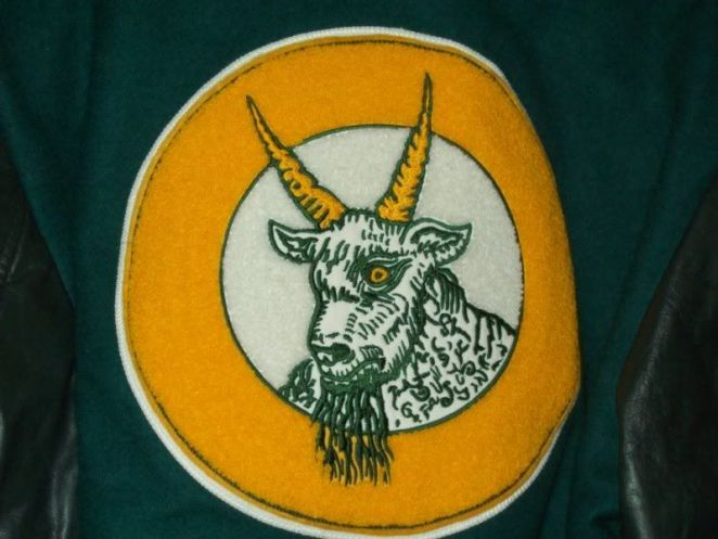A picture of the horned goat that is the Comity NH high school mascot in Syzygy.