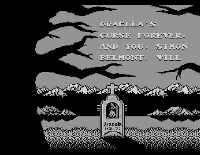 In the bad ending, you get Dracula's gravestone and a message saying you and Dracula have perished.