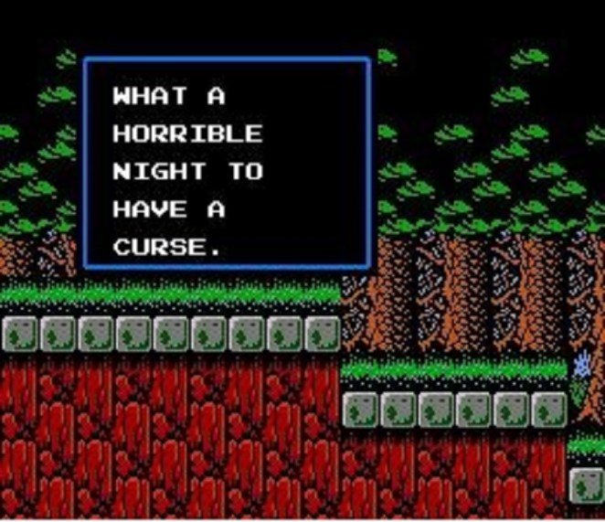 What a Horrible Night To Have a Curse appears on the screen as day turns to night