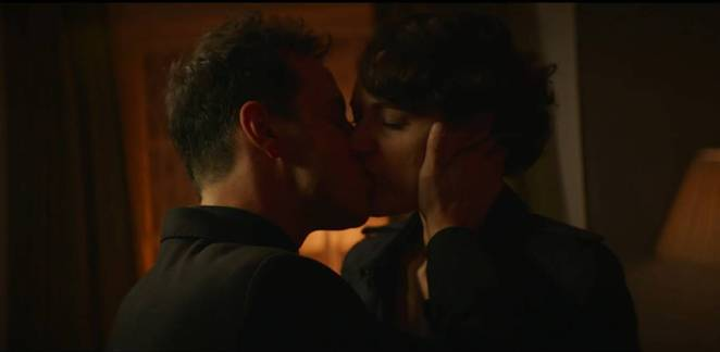 Fleabag and The Priest kiss in her apartment
