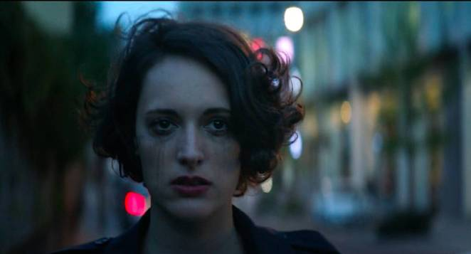 Fleabag walks the streets of London crying
