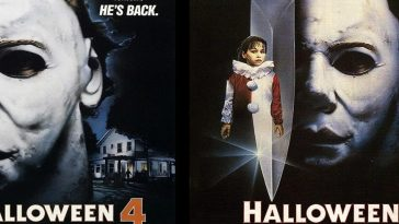 The posters of Halloween 4: The Return of Michael Myers and Halloween 5: The Revenge of Michael Myers