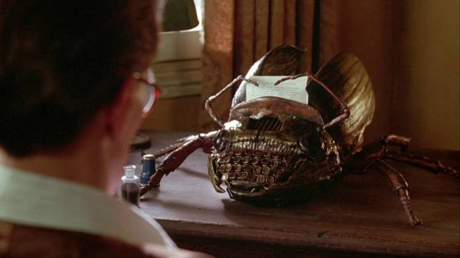 A hideous cockroach typewriter from David Cronenberg's Naked Lunch (1991)