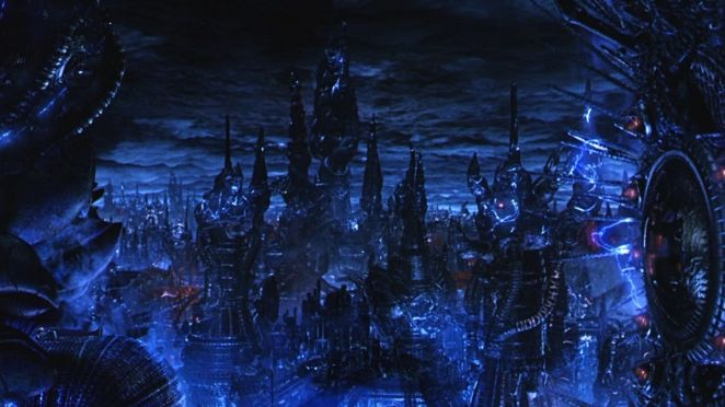 The machine cityscape in The Matrix Revolutions