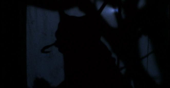A silhouette of the insect monster is seen visible among other shadows.