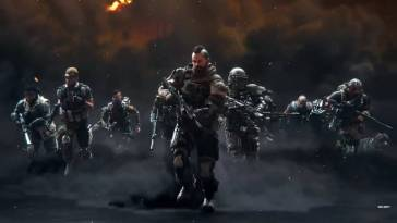 The Black Ops crew gather in a smoke filled darkness