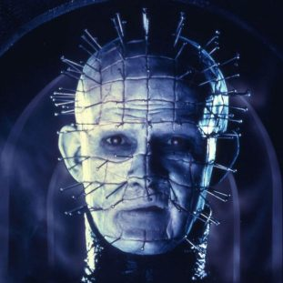 Pinhead, a man with pins coming out of his head