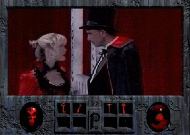 Magician and blonde assistant from Phantasmagoria video game