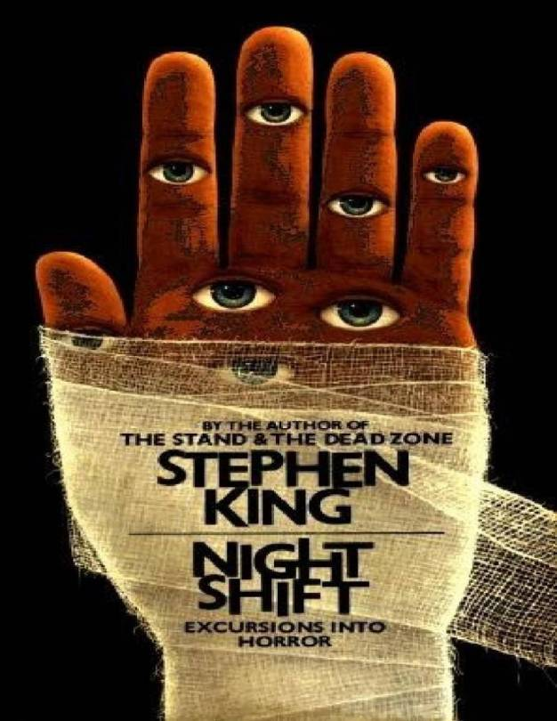 Front cover of the book Night Shift, a collection of stories by Stephen King.
