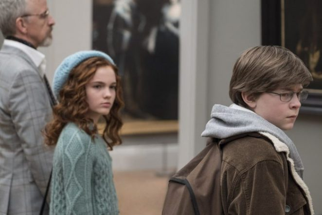 Oakes Fegley as a young Theo in The Goldfinch