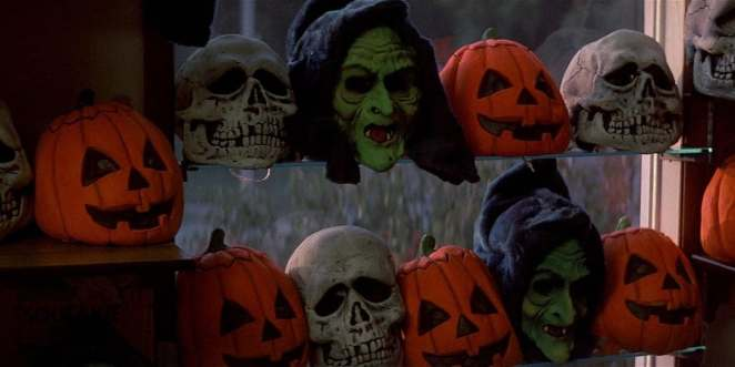 Silver Shamrock masks featured in Halloween III