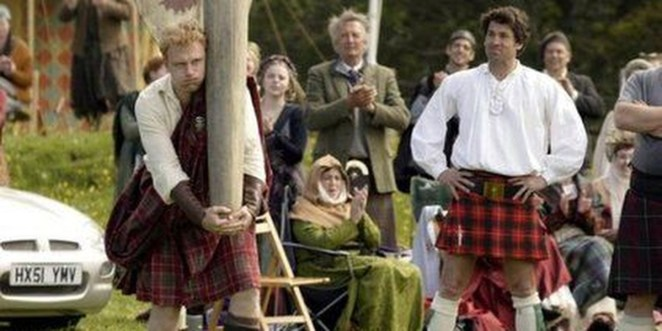 Colin And Tom Wearing Kilts During Highland Games Made Of Honor