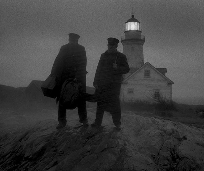Ephram (left) and Thomas (right) watch their delivering ship depart as their arrive at their island lighthouse post.