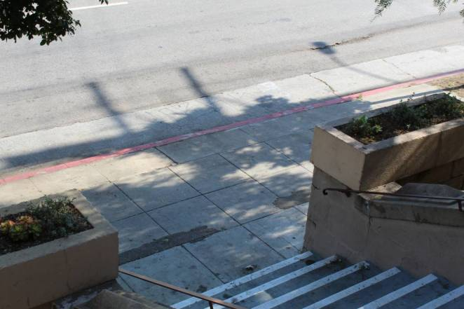 Cahuenga Branch Library steps