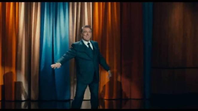 Robert DeNiro in Joker as a TV host on stage