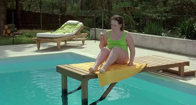 AnaÏs Reboux relaxes by the pool in Catherine Breillat's Fat Girl (2001)