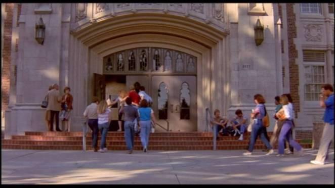 School entrance way in Nightmare on Elm Street